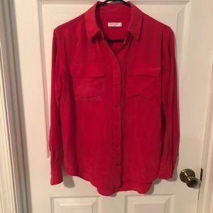 Equipment 100% silk button up blouse
